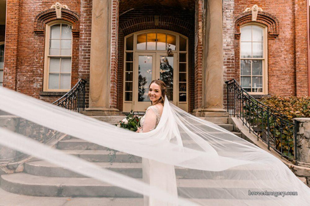 bride Providence Academy entrance
