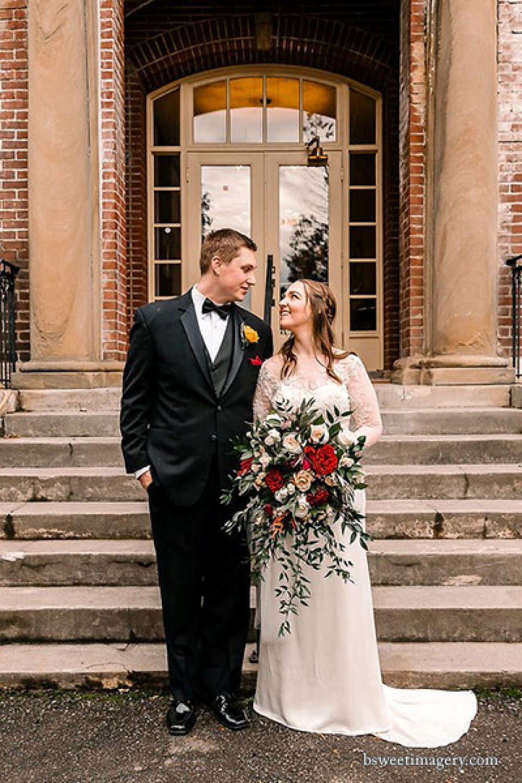bride and groom Providence academy